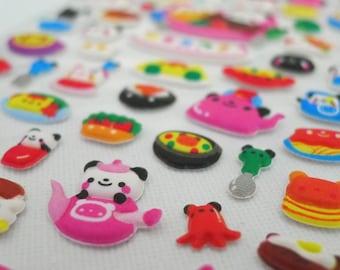 Kawaii Puffy Japanese Sticker - Japanese Street Carnival - Panda Chef (1249)