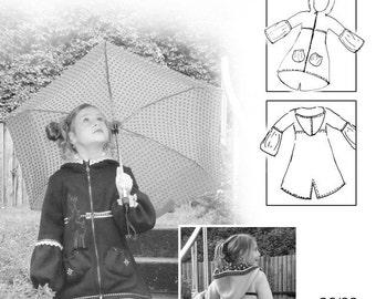 FARBENMIX Euro German sewing Pattern JADE Girls Coat Sz 1 to 10 SALE