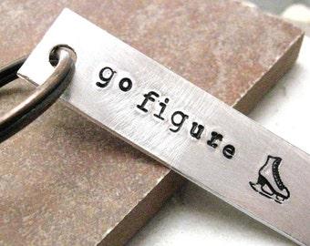 Go Figure Skating Keychain, Ice Skating, Ice Skater keychain, Ice Dancer, read listing, figure skater gift, ice skating humor