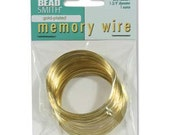 "Gold Plated Memory Wire,1.75""-1 Ounce,WHOLESALE PRICING"