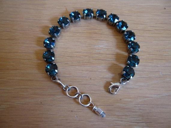 montana blue swarovski crystal tennis bracelet in an antique. Black Bedroom Furniture Sets. Home Design Ideas