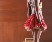 Tutu Sheer Flared Skirt Orange Small Medium