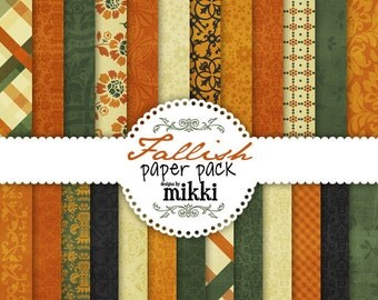 Digital Papers- Fall-Fallish-Autumn Paper Pack (30)