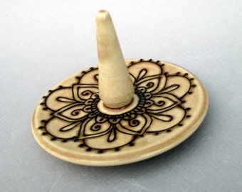 Mehndi Jewelry Holder - Handmade henna design dish