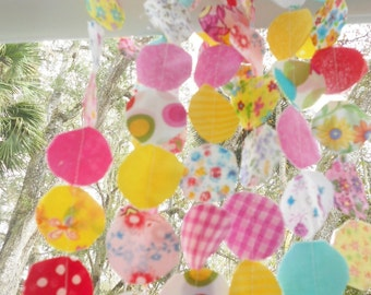 Wedding Garland Birthday Garland Camper Bunting CIRCLE Circus Pop Candy Nursery Shower Photo Prop Birthday Party Photography Photo Prop 6'