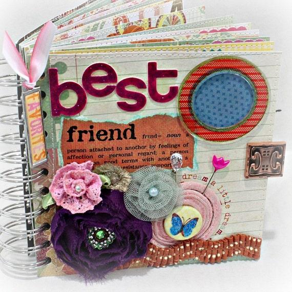 Top Photo Book: BEST FRIEND A-z Friendship Scrapbook Photo Album