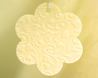 Embossed Flower Car Air Freshener
