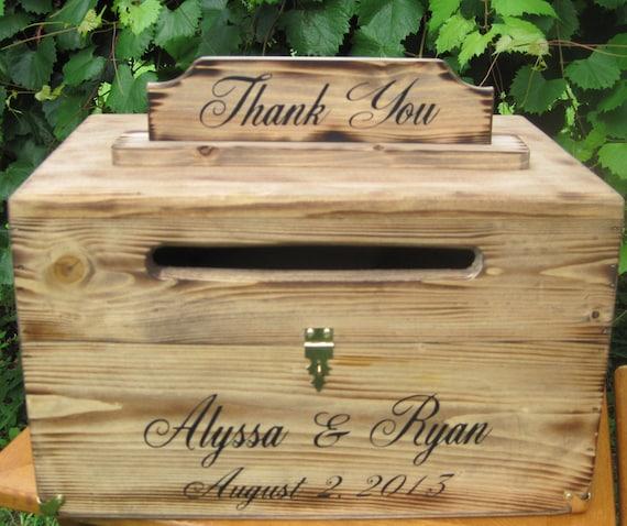 Rustic Wooden Card Box Rustic Wedding Card Box Rustic