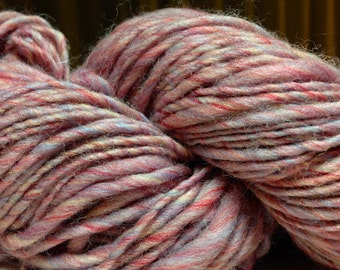 Handspun Superwash Yarn in Rose Water