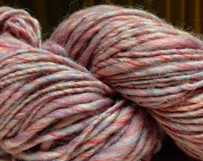 Handspun Superwash Yarn in Rose Water