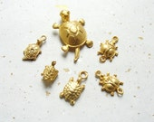 Golden Animal Charms 6pc