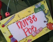 Hand personalized nurse sign  so cute for school nurse or nurses office