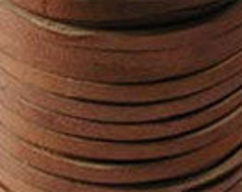 Deerskin Lace Leather Cord String 5 Feet 1/8 Inch SADDLE TAN 42882