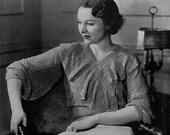 Columbia Frou Frou Blouse - Vintage 1930s Knitting Pattern - PDF eBook