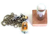 Octopus Necklace - Upcycled Cork in Test Tube - Custom Stamped Initial Charm by Uncorked