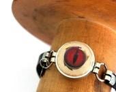 Dragon Eye Jewelry - Dragon Eye Bracelet, Wine Cork Bracelet, Leather Bracelet, GOT Jewelry, Thrones, Custom Size, Recycled - Uncorked