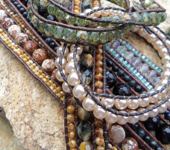 Triple Row (AND Multi Wrap) Leather Bracelet Tutorial PDF - INSTANT Download