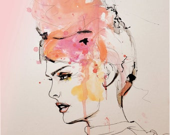 Insouciant  - Fashion Illustration Art Print
