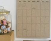 2014 kraft wall calendar - large