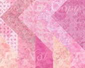 Buy 1 Get 1 FREE Princess Shabby Chic Scrapbooking Digital Paper Pack Instant DOWNLOAD