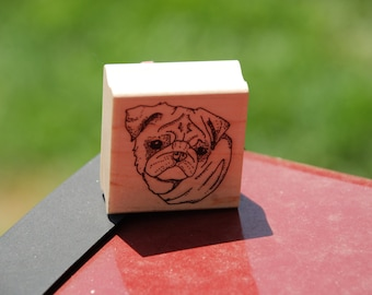 PUG Red Rubber Stamp