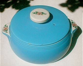Hall Rose Parade Casserole and Bean Pot - Oven to Table Kitchenware
