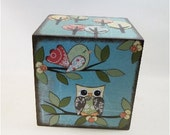 EXTRA Large Wooden Coin Bank Box (Personalized) , Piggy Bank, Coin Box, Prayer Box, Owls and Other Designs, MADE To Order