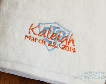 CTR Baptism Towel - LDS gift - Personalized Towel