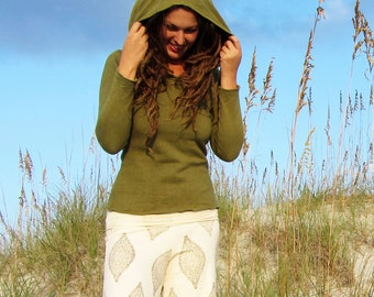 ORGANIC Beach Bum Simplicity Fleece Shirt ( hemp and organic cotton fleece ) - organic hemp shirt