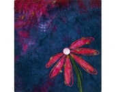 Art Quilt Coneflower Confection