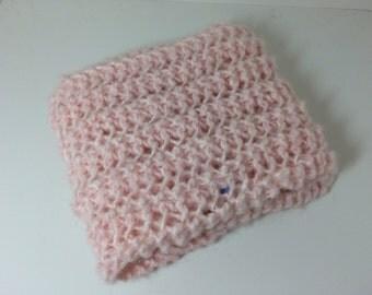 Pale Pink knitted scarf - Garage Sale