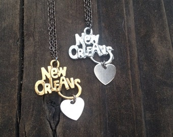 LOVE NEW ORLEANS Necklace - louisiana, college, big easy, Mardi Gras
