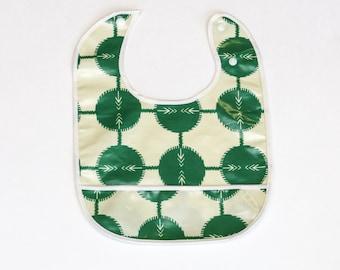 Baby Indulgence Bib, with crumb catcher Laminated Cotton,  BPA  & PVC free Baby Friendly