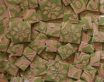 Mosaic Tiles--Moroccan Design--Green- brown--50