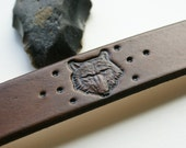 Leather Wristband-Wolf-Leather Wristband-Leather Wristband-Wolves Leather Wristband-Leather Wristband Cuff -Tooled leather Wristband