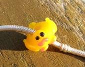 Duck,  Big Hole Charm Glass Lampwork Bead, Simply Lampwork by Nancy Gant SRA G55