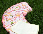 10 Pack Pink Park Print Flannel Cloth Baby Wipes, Double Ply, Reusuable