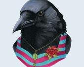 Crow Lady art print 8x10