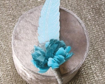 Letterpress Feather Boutonniere