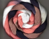 Size 10 Cotton Crochet Thread Hand Dyed 50 yards black peach tan white Jokin