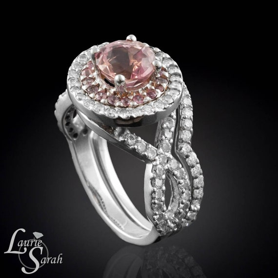 Light Pink Sapphire Engagement Ring and by LaurieSarahDesigns