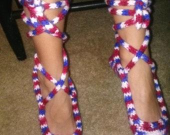 Knitted Ballet Slippers for Girls