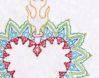 Hand Embroidery Pattern-Sacred Heart