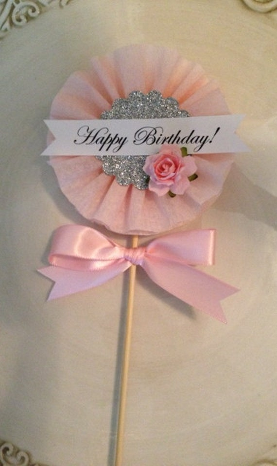 Beautiful shabby chic happy birthday wand for birthday for Birthday wand