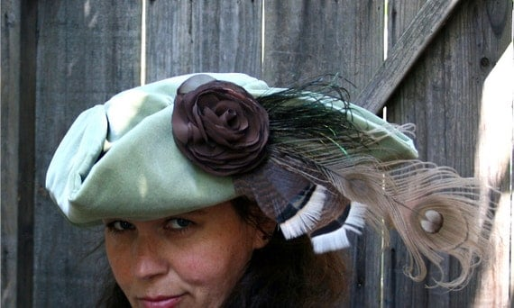 Pirate Hat Green Tricorn Halloween Costume By