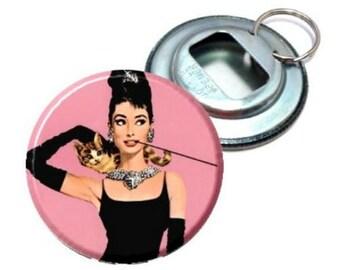 Bottle Opener - Audrey Hepburn Breakfast at Tiffanys Pink