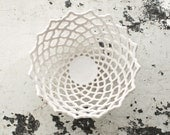 Small Carved Porcelain Lattice Bowl - isabelleabramson