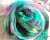 Hand dyed Romney roving - 3.9 ounces