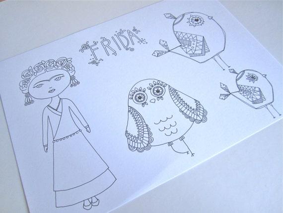 Big sale frida hand embroidery patterns by craftymissjuliet