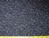 Floral Design Japanese Asian Pre Quilted Fabric Half Meter Cut